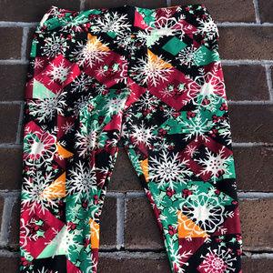 LuLaRoe OS Christmas Leggings